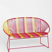 Plum & Bow Striped Loveseat- Pink One