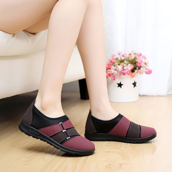 Casual Mother Slip On Lady Comfort Shoes
