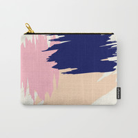 Pink Blush Carry-All Pouch by spaceandlines