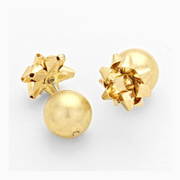 Wrapped Up In A Bow Double Stud Earrings