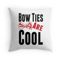 Doctor Who Throw Pillow Bow Ties Are Cool