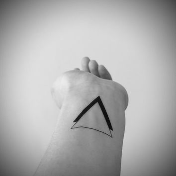 2pcs Black Double Triangle tattoo - InknArt Temporary Tattoo - wrist quote tattoo body sticker fake tattoo wedding tattoo small tattoo