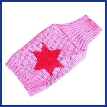 Dog clothing Soft Sweater Fashion Knitted  Cute Dogs Apparel Classic Winter Warm Dog Clothes.