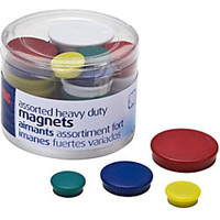 Officemate Heavy Duty Magnets Assorted Colors Pack Of 30 by Office Depot