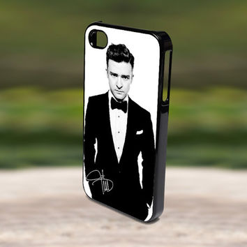 Accessories Print Hard Case for iPhone 4/4s, 5, 5s, 5c, Samsung S3, and S4 - Cool Black and White Justin Timberlake