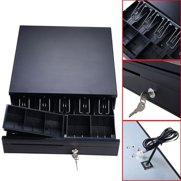 Cash Drawer Box Works Compatible Epson POS Printers w/5Bill &5Coin Tray