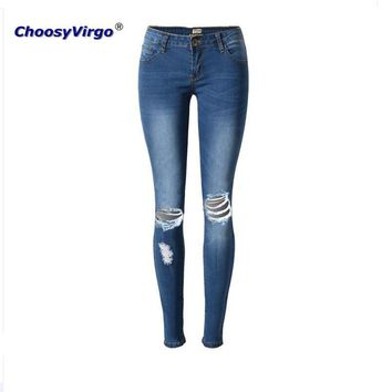 ChoosyVirgo ladies denim Trousers Skinny Elasticity jeans female fashion full length pencil pants jeans mujer High quality