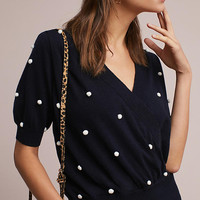 Lorenza Dotted Wool Pullover
