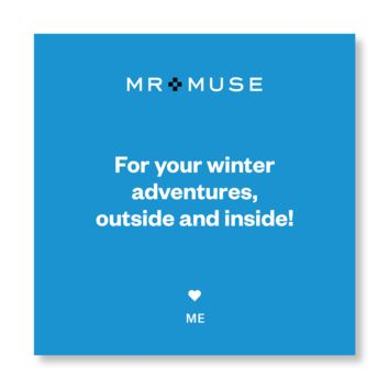 Gift Note, Tissue & Gift Box | For Your Winter Adventures, Outside and Inside!