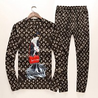 LV & Supreme tide brand fashion casual men's suit F-A00FS-GJ