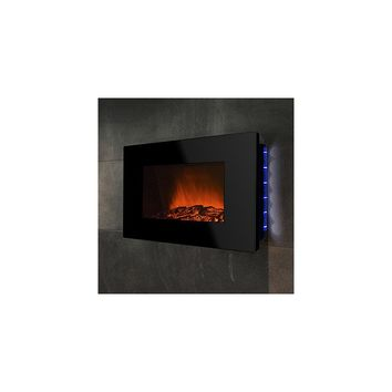 GoldenVantage 36'' Wall Mount Piano Black Electric Fireplace