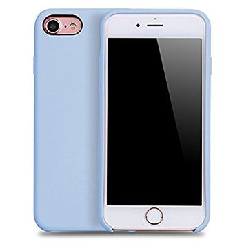 iPhone 7 & iPhone 8 case,YAZHAN Liquid Silicone Gel Rubber Slim Fit Soft Mobile Phone Case with Microfiber Cloth Lining Cushion for Apple iPhone 7 (2016) / iPhone 8 (2017) - Mint