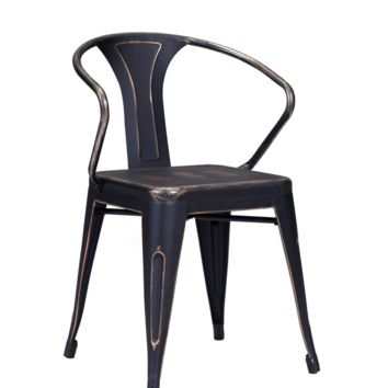 Felix Chair | Antique Black Gold