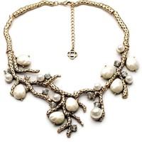 Withered Branch and Flower Bib Necklace - OASAP.com