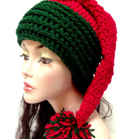 Crochet Christmas Hat. Santa Hat. Winter Fashion hat