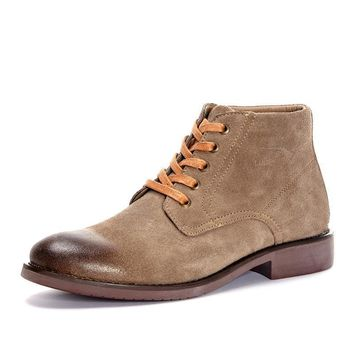 38-45 Natural Suede Winter Boots Men Warm Winter Men Boots Plush High Quality