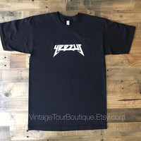 Yeezus Logo Black Tee Shirt Kanye West Yeezy Tour Merch TLOP