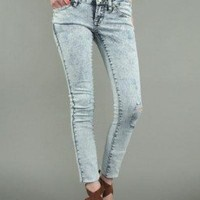 ACID WASH DESTROYED SKINNY @ KiwiLook fashion
