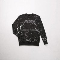 Mens XQUARE 23 Yeezus Blood Splatter Sweatshirt at Fabrixquare