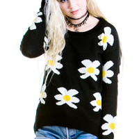 Mellow Yellow Cozy Daisy Sweater