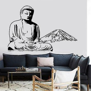Wall Decal Buddha Mount Fuji Japan Buddhism Yoga Om Vinyl Sticker Unique Gift (z2870)