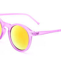 Retro Pink Mirrored Sunglasses