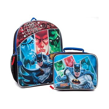Justice League Backpack w/ Lunch Bag