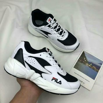 """Fila"" Women All-match Casual Fashion Multicolor Thick Bottom Sneakers Running Shoes"