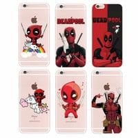 marvel For iPhone 4S 5S 6S 6Plus 7Plus 7 Samsung Galaxy  Deadpool Movie Funny Humor Cartoon Unicroon Soft Silicon Phone Case