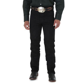 Wrangler Men's Cowboy Cut Silver Edition Slim Fit Jean 933SEWK Black