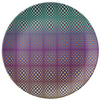 Abstract Squares 3 Dinner Plate