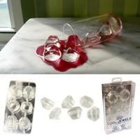 Cool Jewels - Gem Shaped Ice Cube Tray Mold - Makes Ice Cubes In The Shape Of Jewels