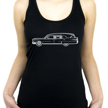 Hearse Funeral Car Racer Back Tank Top Shirt Dead Death
