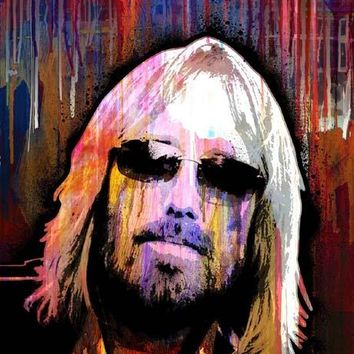 Tom Petty Heartbreakers  - Music Panel wall art print picture on canvas
