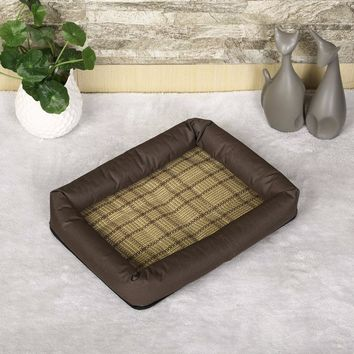 2017 New Fashionable Lovely Cute Pet Dog Cat Summer Mat House Bed Soft Breathable Pet Sleeping Mat 3 Colors Animal Pad