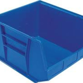 Quantum Storage Systems Stack And Hang Bin, 18 In. X 16-1/2 In. X 11 In., Blue