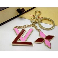 LV Woman Fashion Plated Bag Ornaments Key Buckle