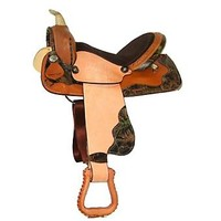 HH Saddlery Mossy Oak Camo Barrel Saddle