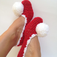 Crochet Slippers,Christmas socks,Dance Shoes,Ballet Flats,Handmade Slippers,Crochet Women Slippers,Cozy Slippers,Wedding flats,Home Silppers