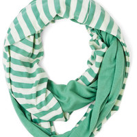 ModCloth Swathed in Spring Circle Scarf in Sage