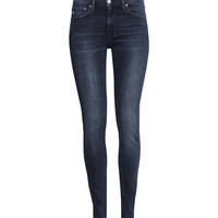 H&M - Shaping Skinny Regular Jeans - Dark denim blue - Ladies