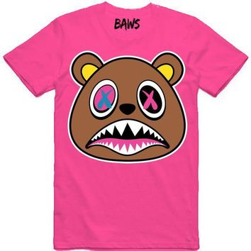 Crazy Baws Hot Pink Sneaker Tees Shirt