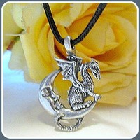 Midnight Dragon Amulet Necklace