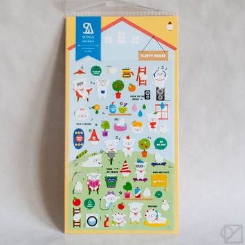 Sticker Sheet Suatelier Sonia Fluffy House - Omoi Zakka Shop