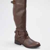 Brown Baby's Got Buckle Boot By Qupid® | Flat Boots | rue21