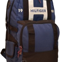 "Tommy Hilfiger Backpack 17"" Laptop Raider Blue Black Book Men Boy Girl Bag 17 in"
