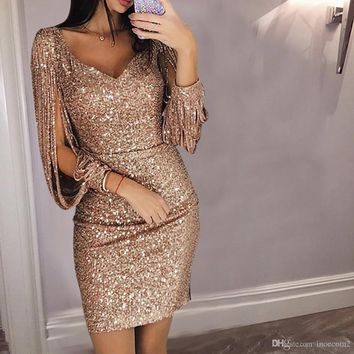 41f21b59091b6 Best Gold Sequin Cocktail Dress Products on Wanelo