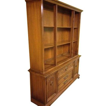 Pre-owned Mid-Century Provincial China Cabinet & Hutch