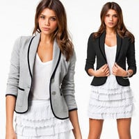 2016 New Spring Women Clothes Casual Women Blazer Fashion Long Sleeve Women Blazer Single Breasted Small Suit S20116