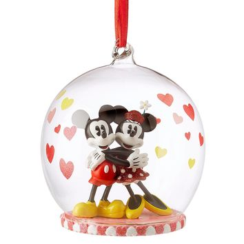 Disney 2018 Minnie & Mickey Hearts Globe Sketchbook Christmas Ornament New w Tag